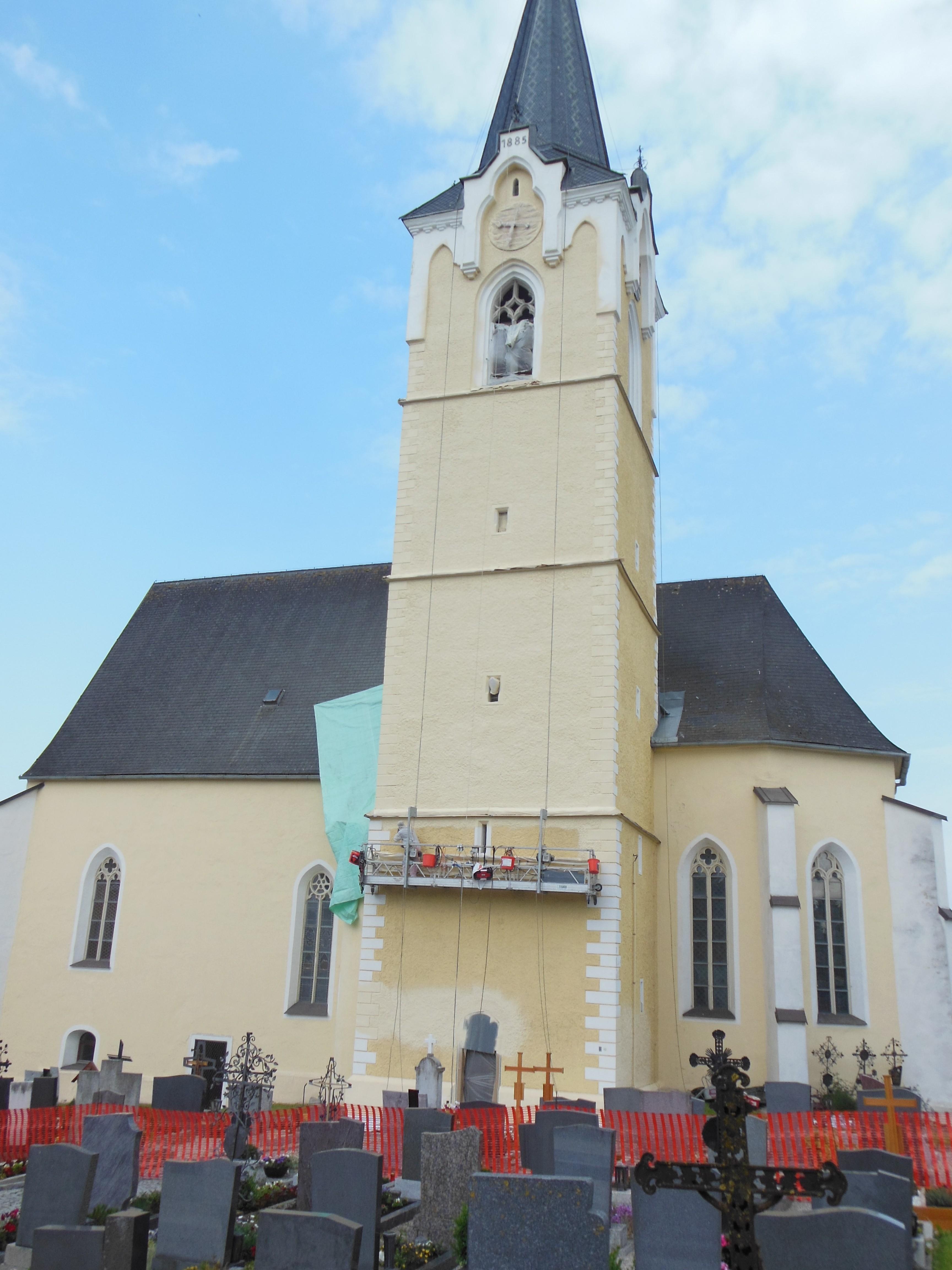 kath. Pfarrkirche Pötting Fassadensanierung