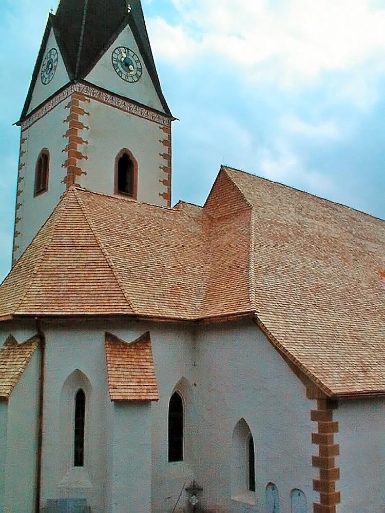 kath. Pfarrkirche Glödnitz Holzschindeleindeckung