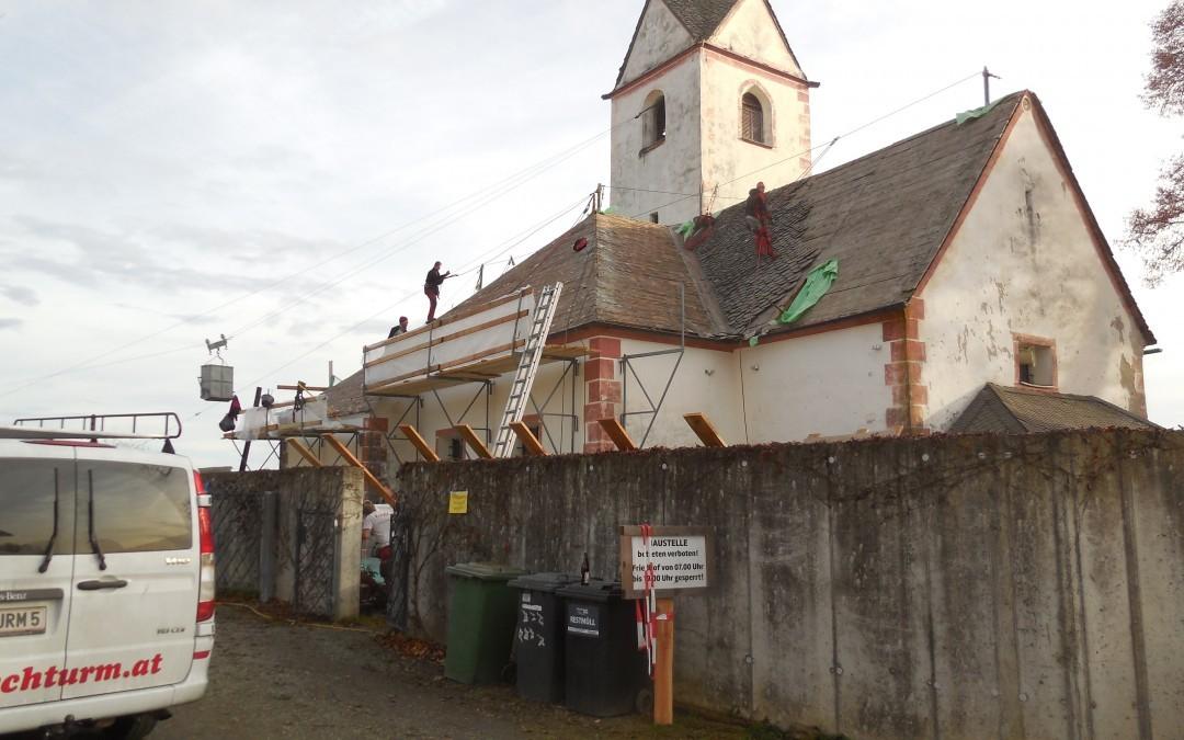 Neueindeckung kath. Pfarrkirche Ottmanach