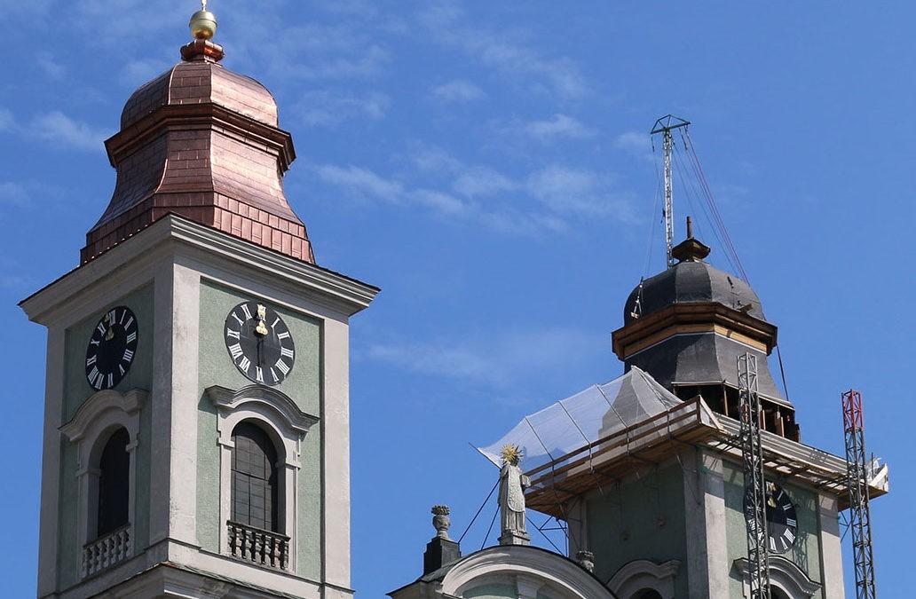 Neueindeckung Ignatiuskirche Alter Dom Linz Südturm