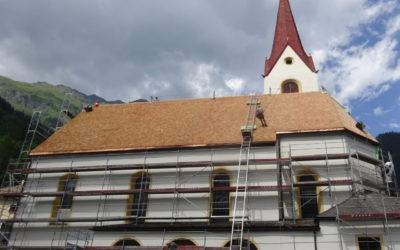Neueindeckung Kath. Pfarrkirche Hopfgarten in Defereggen
